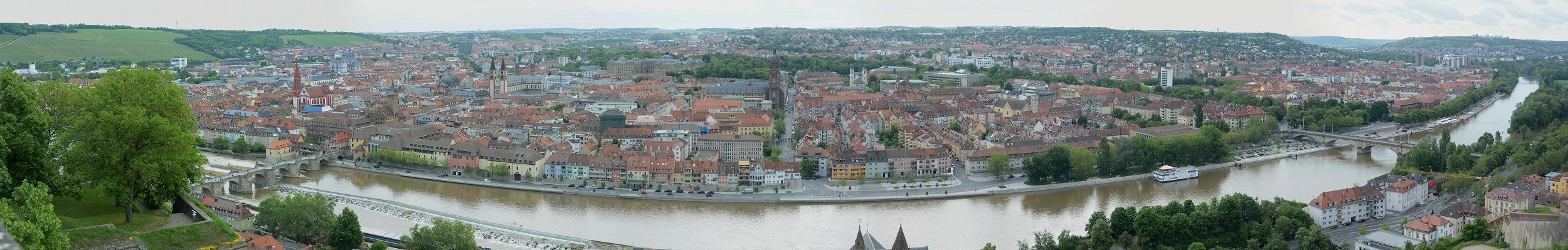 ヴュルツブルクの街並みパノラマ